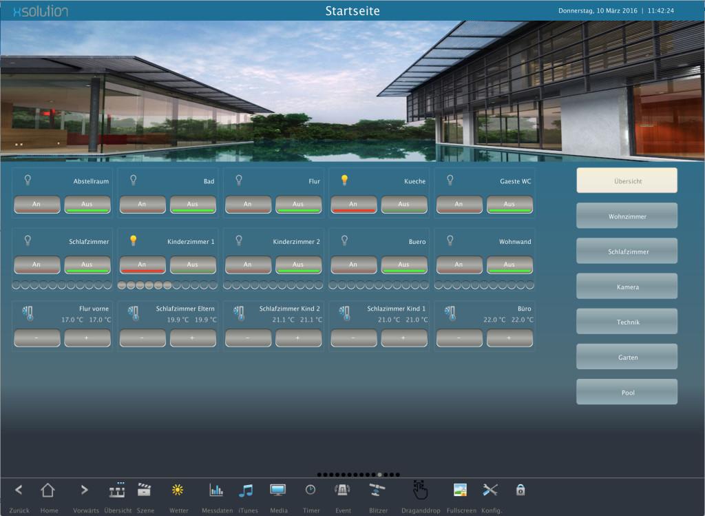 KNX LCN Modbus Visualisierung