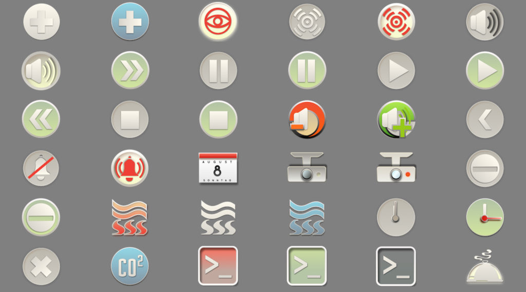 SmartHome IoT KNX LCN Modbus Visualisierung Icons 6