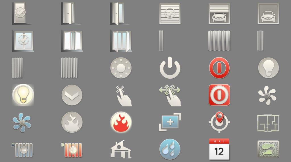 SmartHome IoT KNX LCN Modbus Visualisierung Icons 5