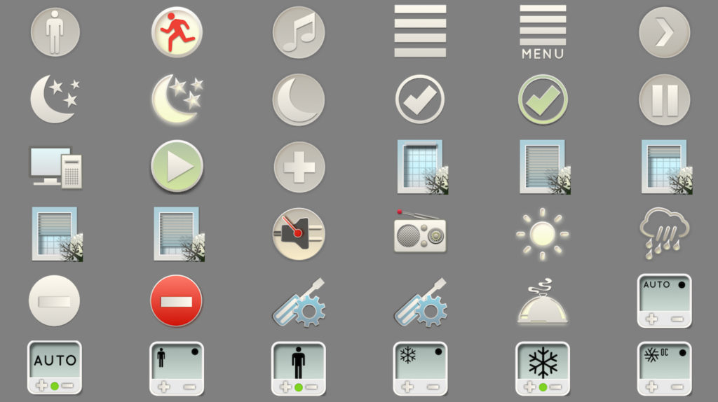 SmartHome IoT KNX LCN Modbus Visualisierung Icons 3