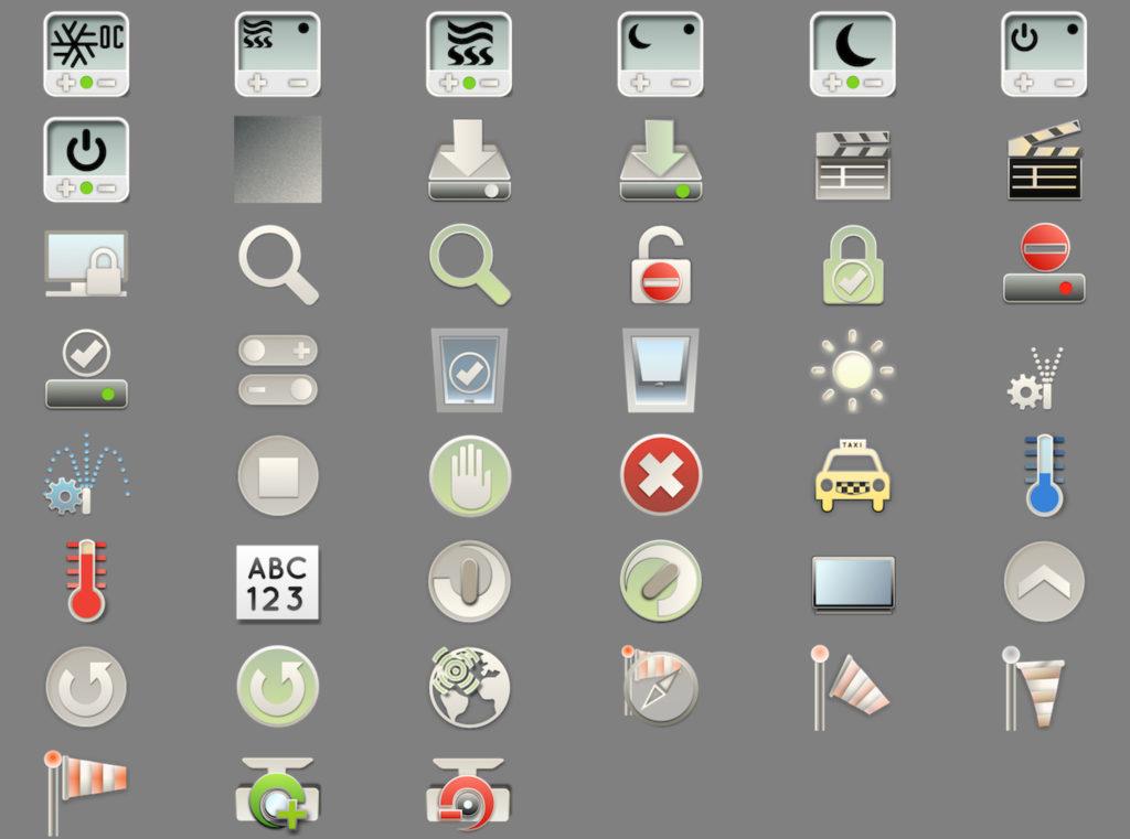 SmartHome IoT KNX LCN Modbus Visualisierung Icons 2