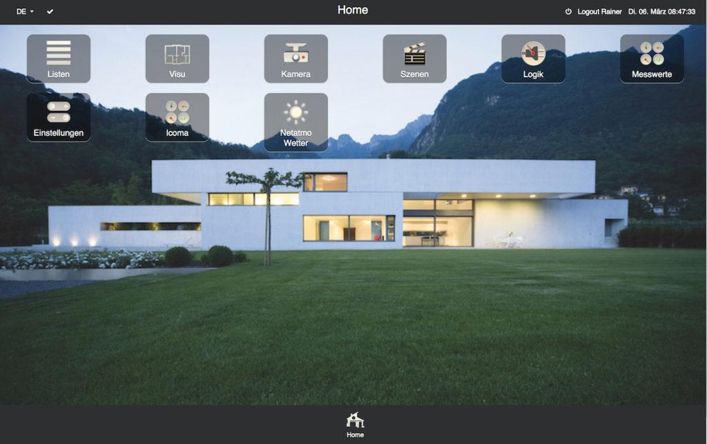 iot Smarthome Visualisierung