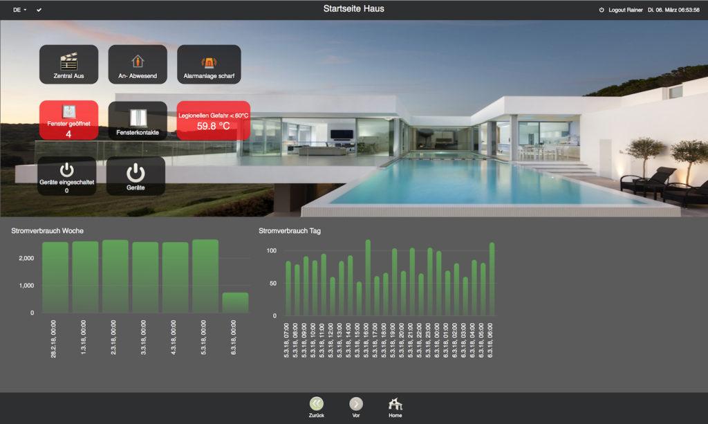 KNX Visualisierung Villa Smarthome